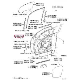 Крыло переднее левое без отверстия под повторитель Ленд Крузер / Land Cruiser 200 2007-
