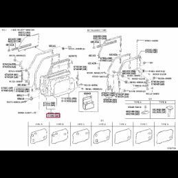 Спойлер губа переднего бампера серебро Ленд Крузер / Land Cruiser 200 07-12