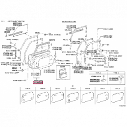 Спойлер на крышку багажника Ленд Крузер / Land Cruiser 200
