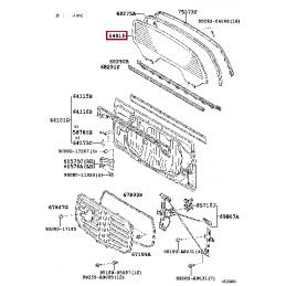 Накладка хром на фары тюнинг комплект Прадо / Prado 120 TY18349AA