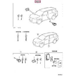 Накладка хром на фонари тюнинг комплект Прадо / Prado 120 TY18367AA