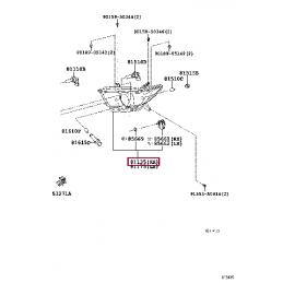 Защита бампера задняя короткая (овал) D 75х42 Прадо / Prado
