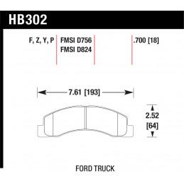 Тормозные колодки передние CAMRY 06- LEXUS ES300H/350 13- HAWK HPS