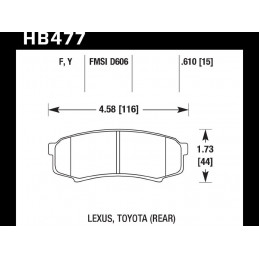 Тормозные колодки передние CAMRY 06- LEXUS ES300H/350 13- HAWK HPS 5.0