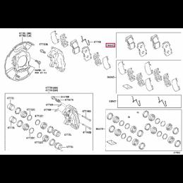 Дефлекторы окон Тойота Прадо / Prado PZ451J0532ZA