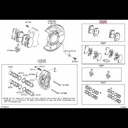 Дефлектор капота Тойота Ленд Крузер / Land Cruiser PZ45170530ZA