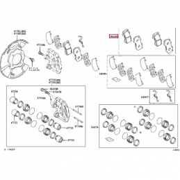 Дефлектор люка Тойота Ленд Крузер / Land Cruiser PZ45170531ZA