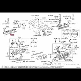 Коврик багажника резиновый черный Прадо / Prado 5 мест PZ434-J2305-PJ