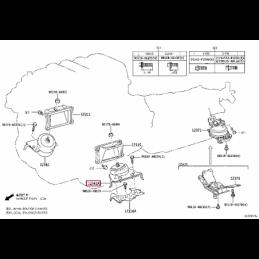 Коврики резиновые серые Ленд Крузер / Land Cruiser PZ49K-J0354-RJ