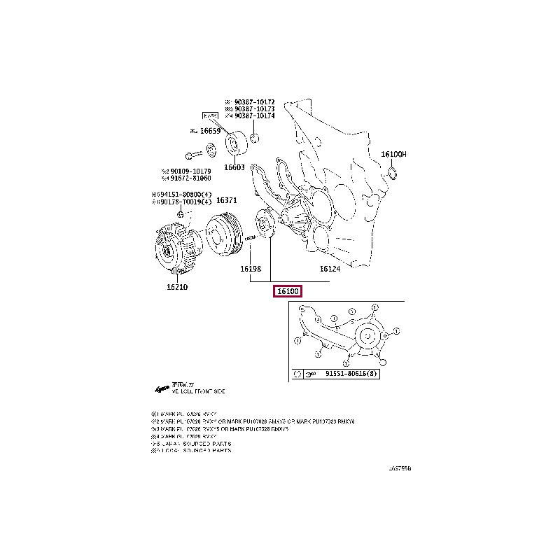 Защита картера, сталь Тойота Прадо / Prado PZ4AL0169800