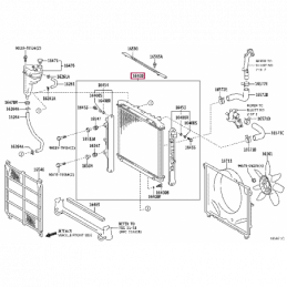 Крепеж стальной защиты КПП Тойота Прадо / Prado PZ4AL0169960
