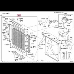 Крепеж для защиты бака Тойота Ленд Крузер / Land Cruiser PZ4AL0158860