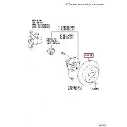 STOPTECH 126.44127SR Тормозной диск передний (правый) для Прадо / Prado 120 / GX 470