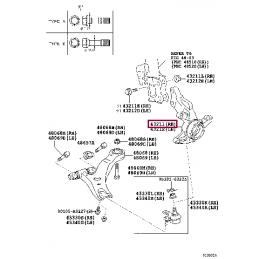Диск тормозной задний (левый) для ST HD LC200 / LX570