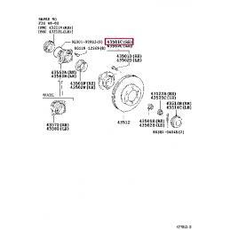 Тормозные колодки HAWK HPS для Land Cruiser 100 зад HB427F.685