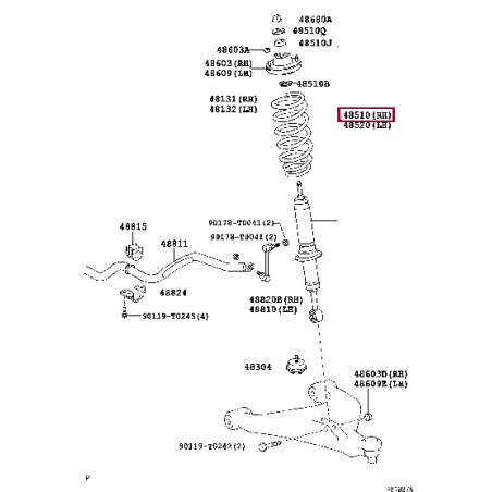 Комплект тормозных шлангов Goodridge Toyota LC200 / Lexus 570 TTY5700-6P