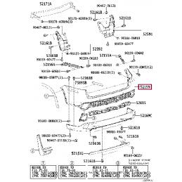 Фонарь внутренний правый с диодами Ленд Крузер / Land Cruiser 200 12- 123144LEDR