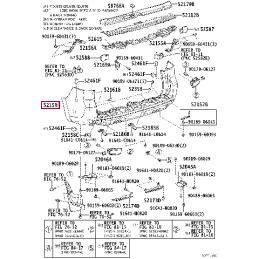 Фонарь левый внешний Land Cruiser 200 16-