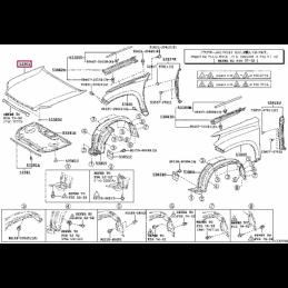 Фара противотуманная левая Ленд Крузер / Land Cruiser 100 98- 125004L