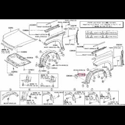 Комплект тюнинг фонарей Прадо / Prado хрусталь с диодами TY1132B0RE2