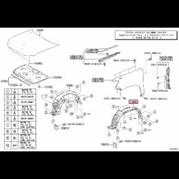 Крепеж для защиты колесных арок RW4AN60020 - RW4AN6001060