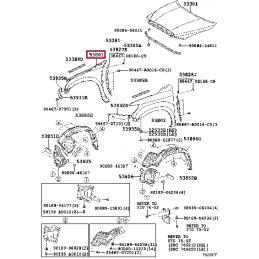 Комплект защиты колесных арок (подкрылки) для Ленд Крузер / Land Cruiser 200 обычные